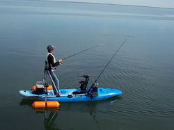 kayak fishing with outrigger